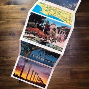 Vintage Wall Art - Vintage Southern California Travel Postcard Book